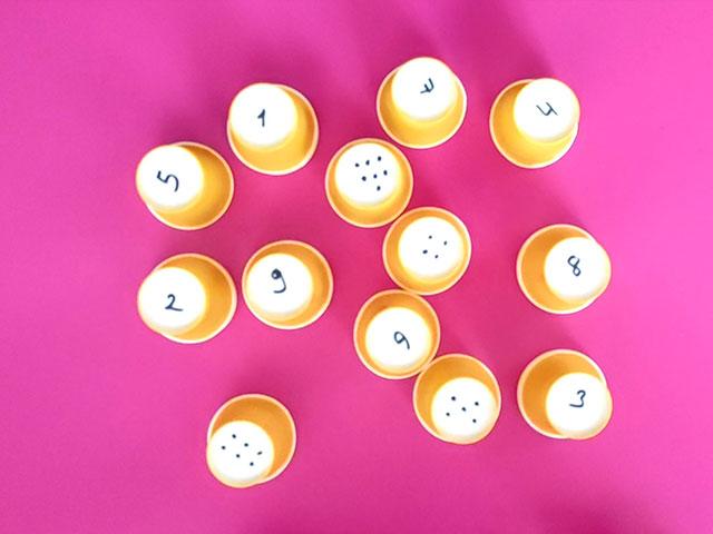 rakam eşleştirme eğlenceli matematik etkinliği